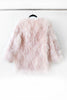The Pink Feather Fur Long Bomber Jacket