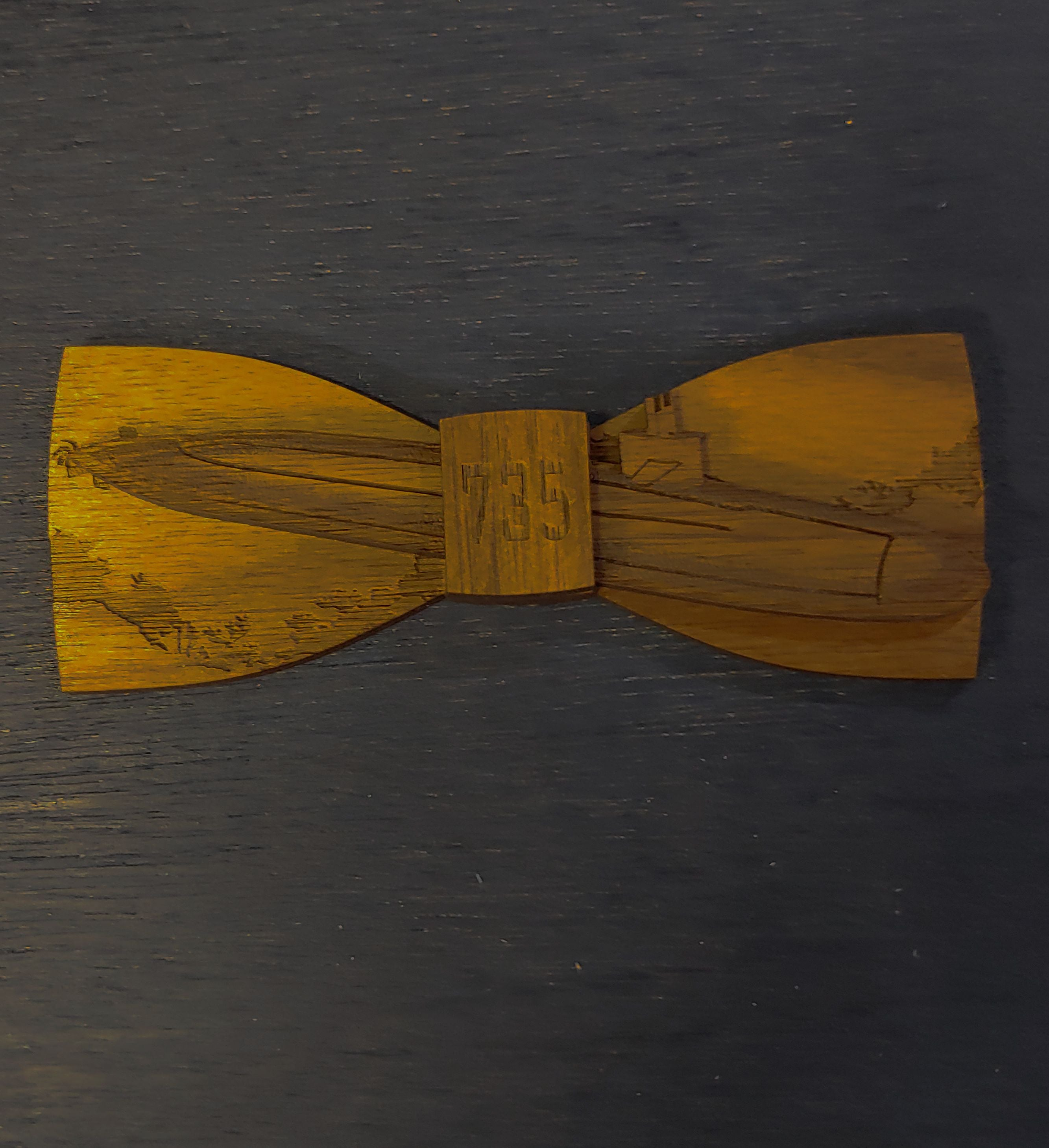 Custom Wood Bow Tie Design