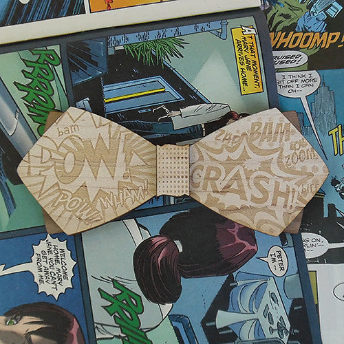 M.W. AdamWest Ph.D., Comic Book Wood Bow Tie
