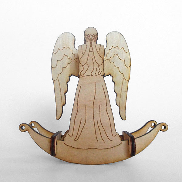 Weeping Angel Wooden Puzzle Toy Rocker