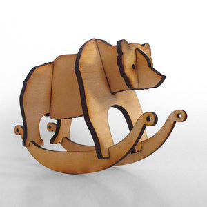 Bear Wooden Puzzle Rocker