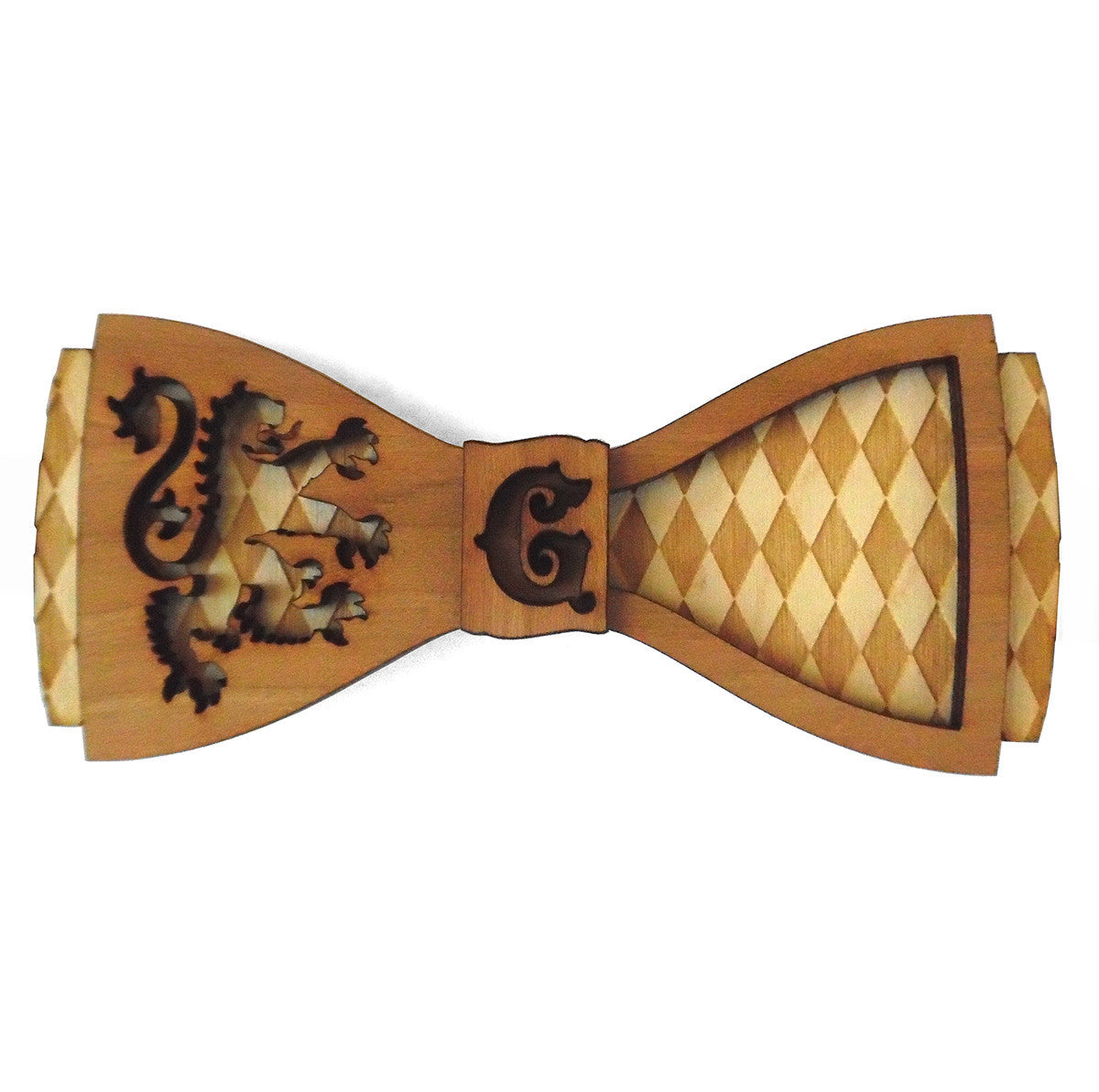 C.B Griffin D.Phil. House Heraldry Wooden Bow Tie
