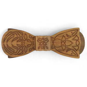 C.W. Cernunnos Esq., Celtic Design Wooden Bow Tie