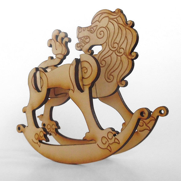 Celtic Lion Wooden Puzzle Rocker