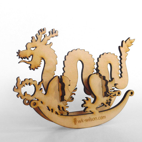 Chinese Dragon Wooden Puzzle Rocker
