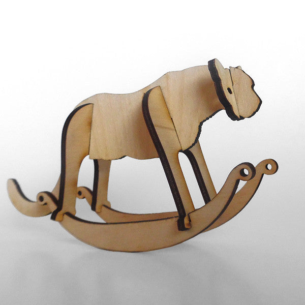 Cougar Wooden Puzzle Rocker