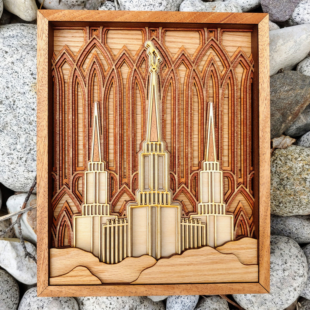 Washington D.C. Temple Layered Wood Plaque
