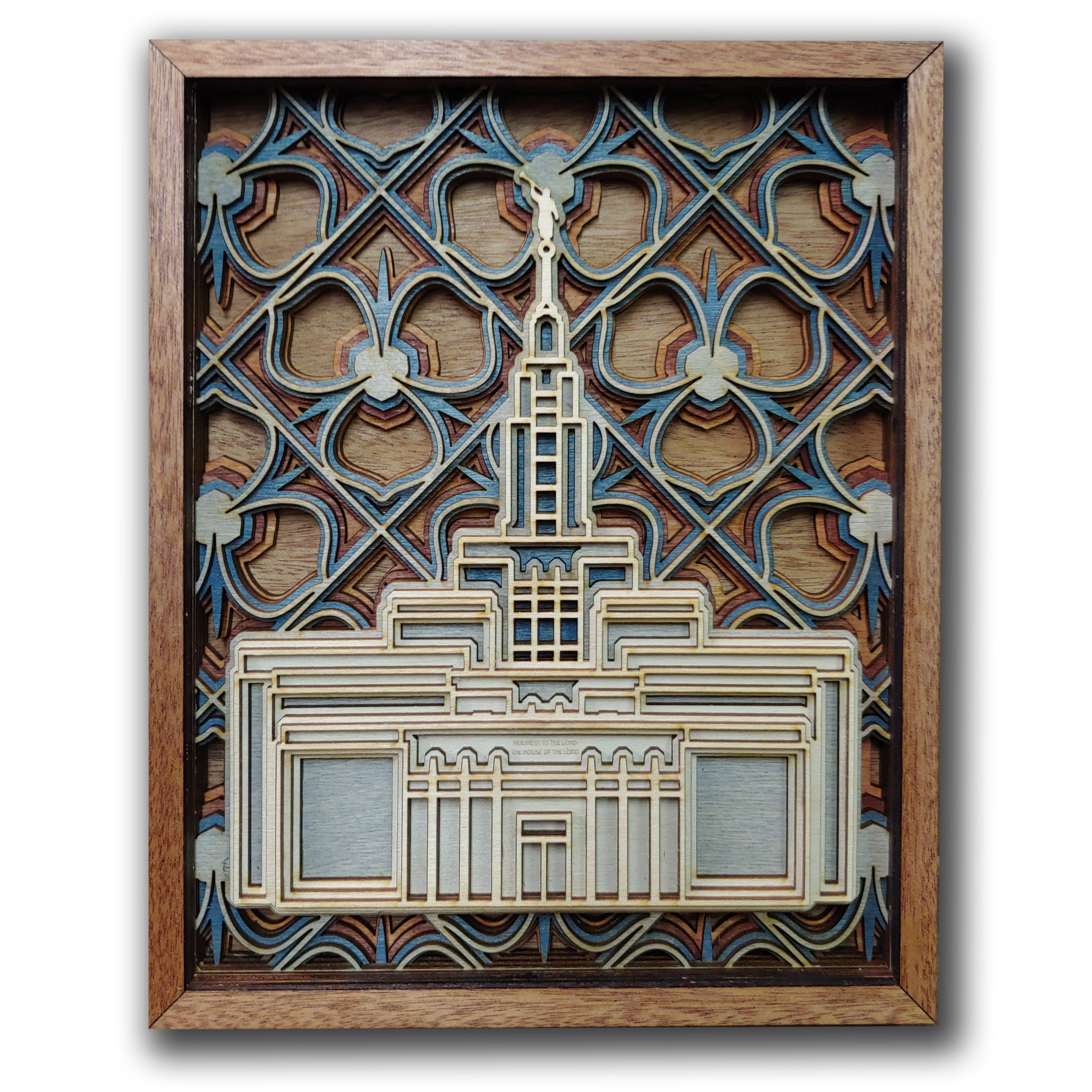Draper Utah Temple Layered Wood Plaque
