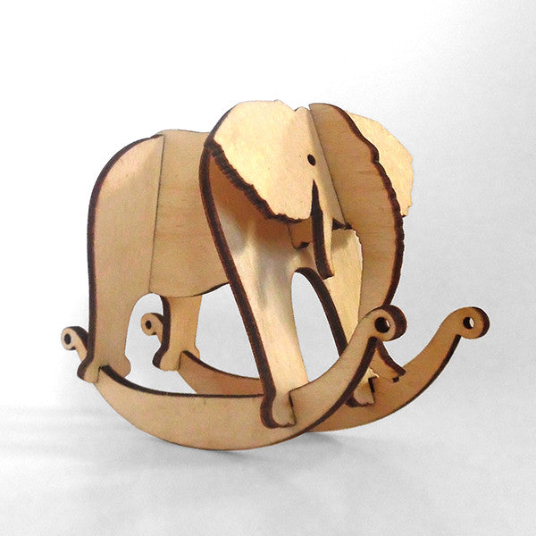 Elephant Wooden Puzzle Rocker