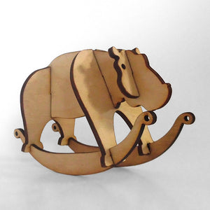 Hippo Wooden Puzzle Rocker