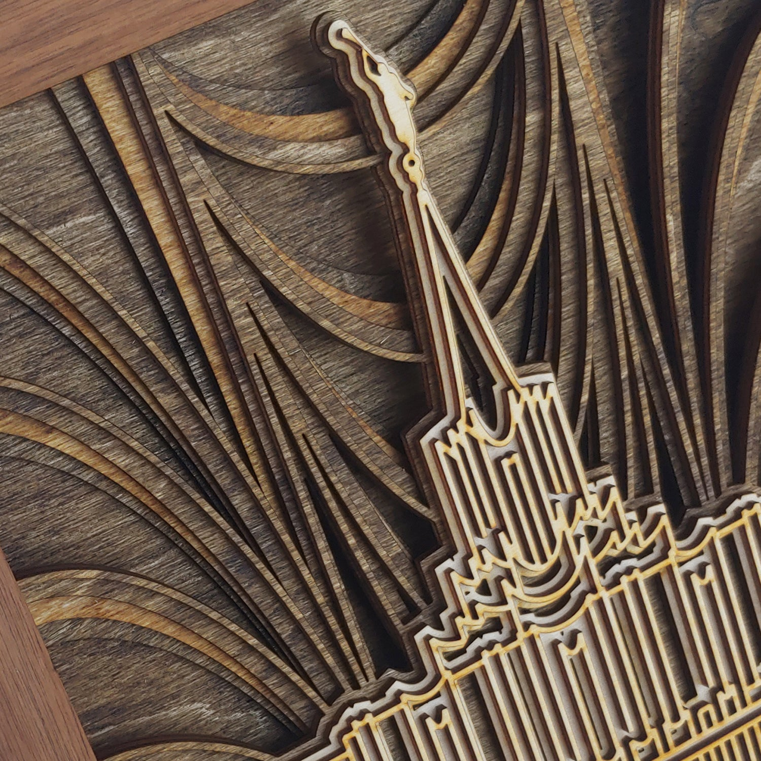 New Design Creation for Layered Temple Wood Plaque
