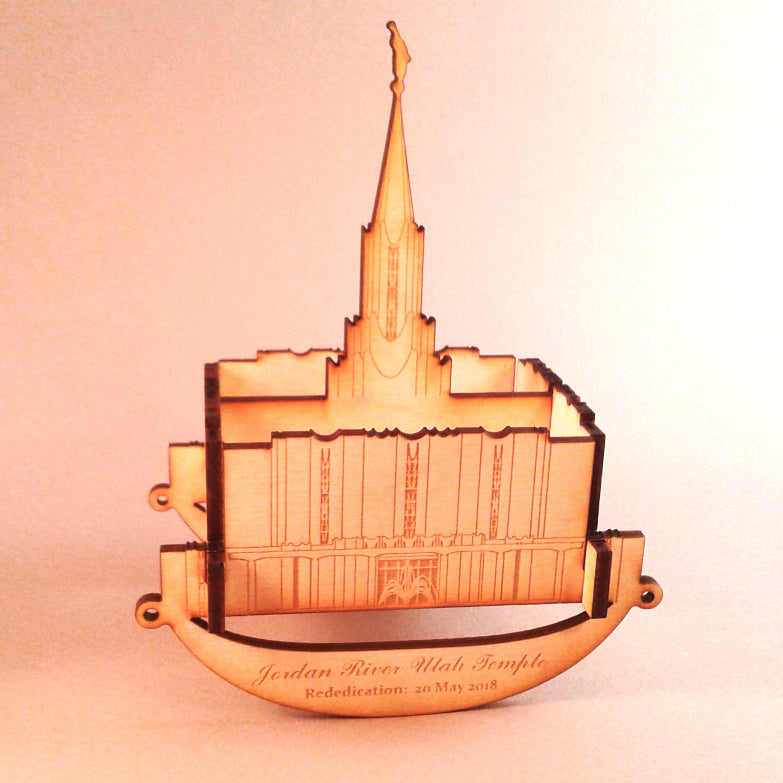 Jordan River Temple Wooden Puzzle Toy Rocker