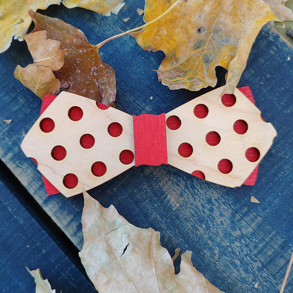 Kids Pokeadot Ph.D., Colorful Wood Bow Ties