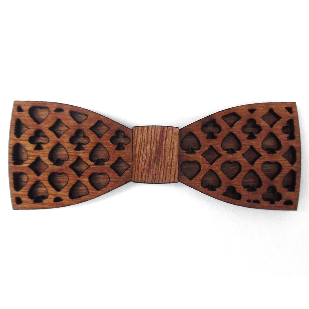 L.B. Magic Jr., Card Suit Wood Bow Tie
