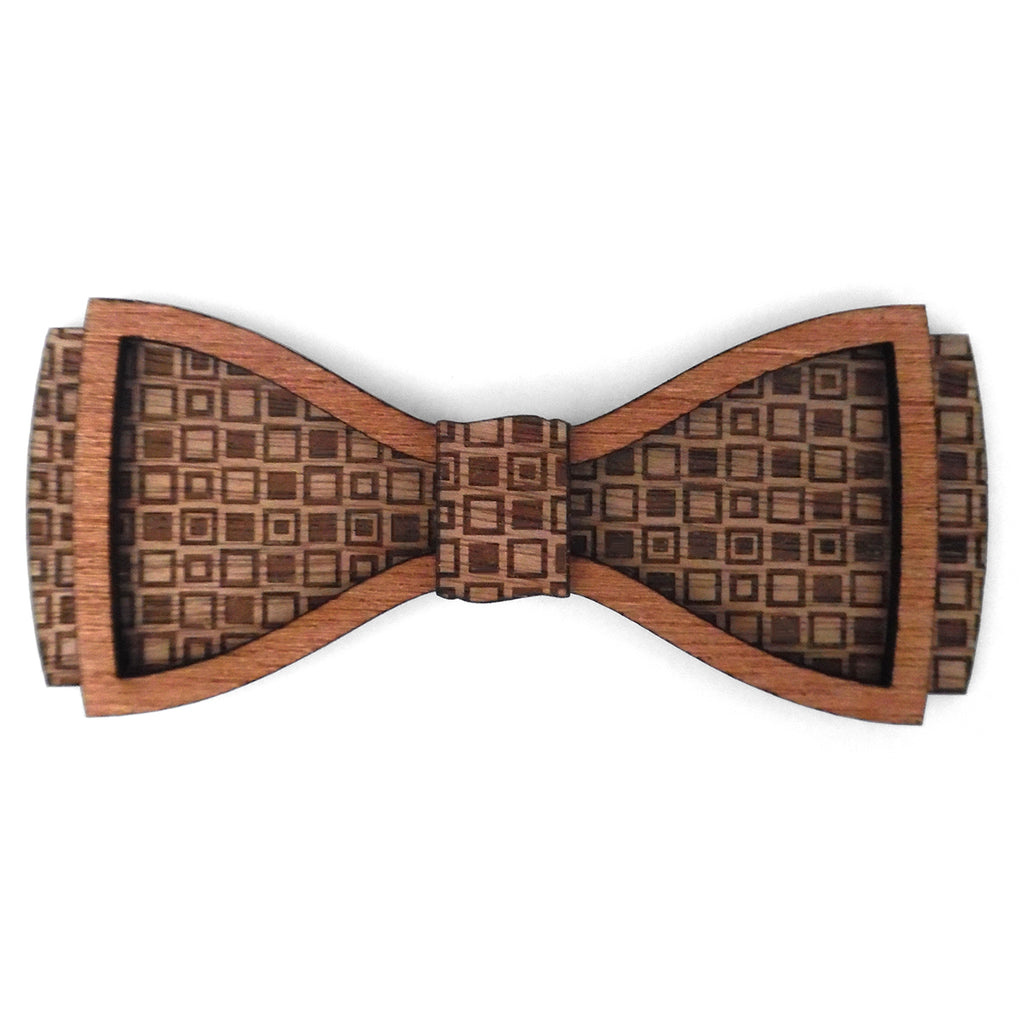 L.L. Harvey D.Phil., Wood Bow Tie