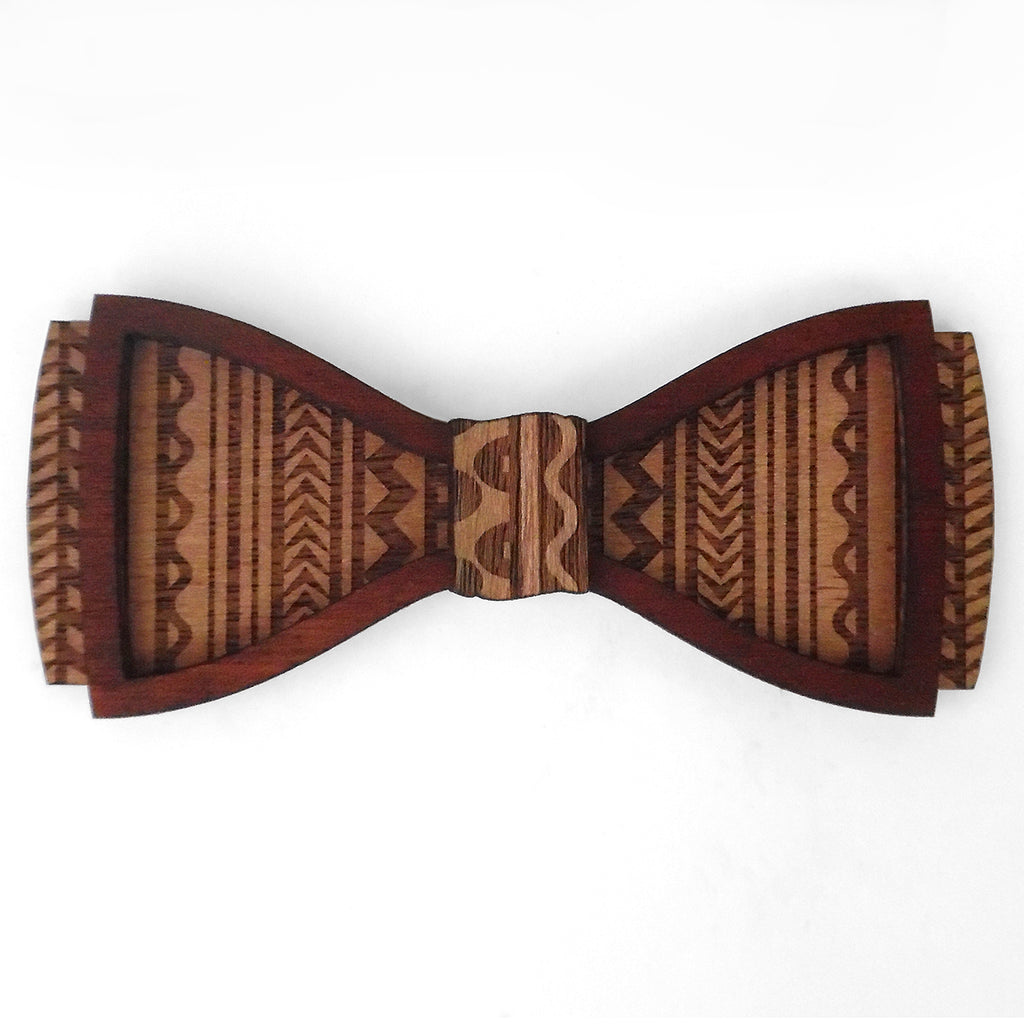 M.B. Ambrose D.Phil., Islander Design Wood Bow Tie