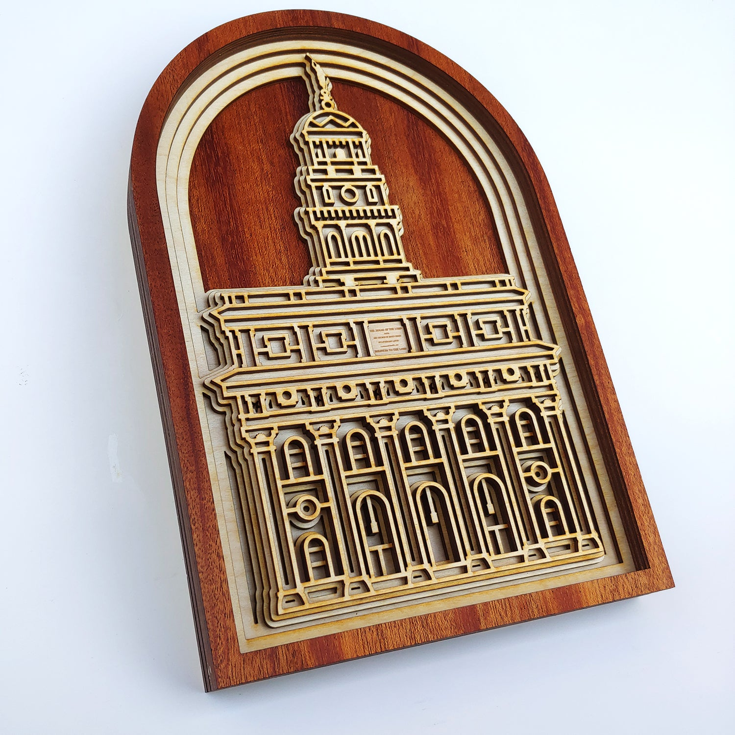 Nauvoo Illinois Temple Layered Wood Plaque