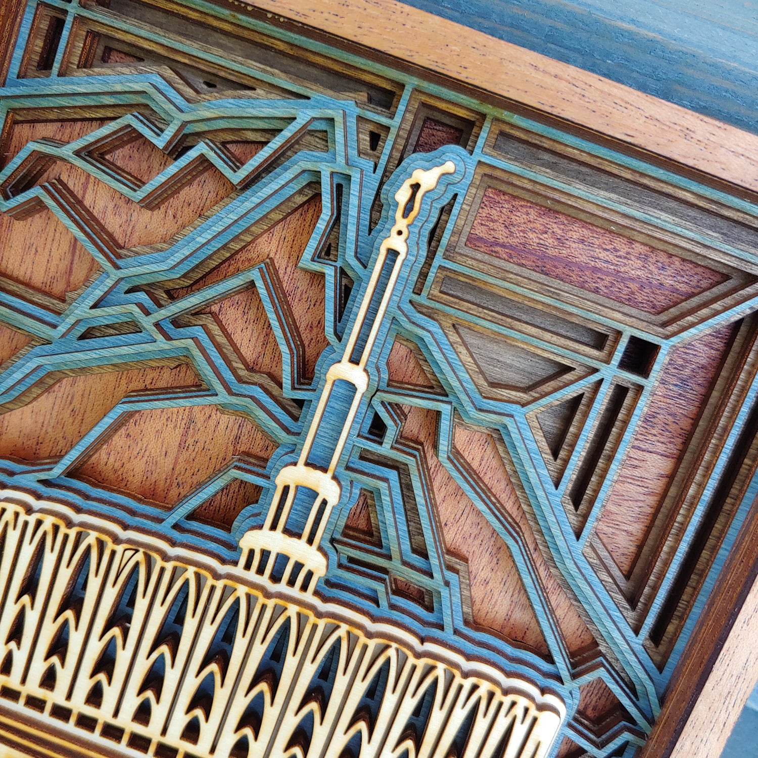 Provo Utah Temple Layered Wood Plaque