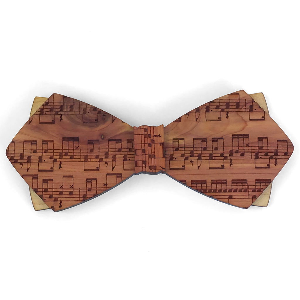 R.M. Dyllon Ph.D., Music Design Cedar Wood Bow Tie