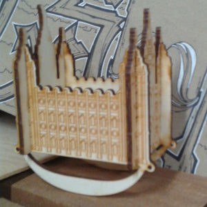 Salt Lake Temple Wooden Puzzle Rocker