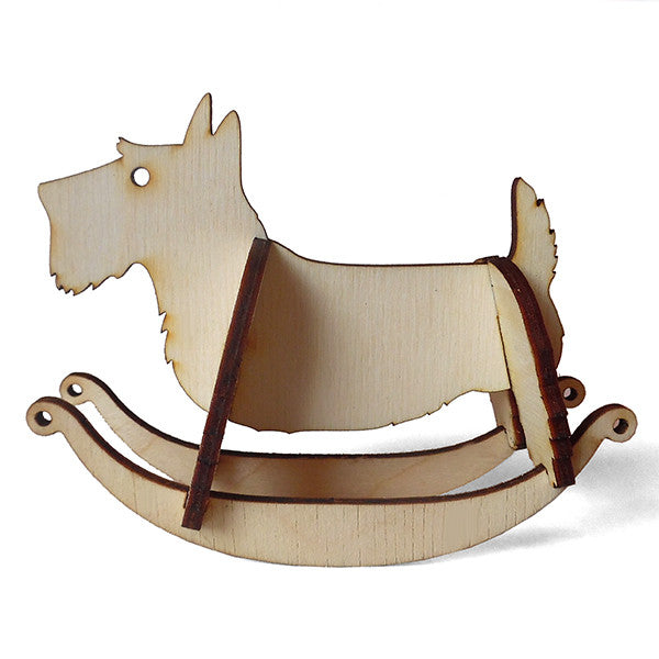 Scottish Terrier Wooden Puzzle Rocker