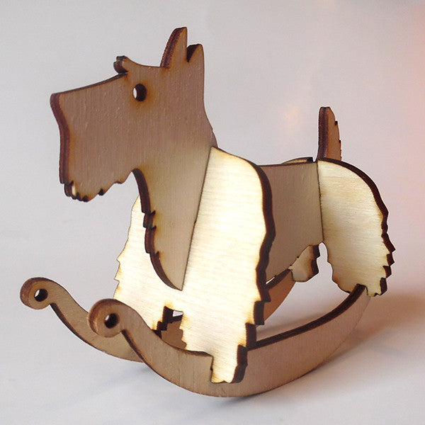Scottish Terrier Puzzle Toy Rocker