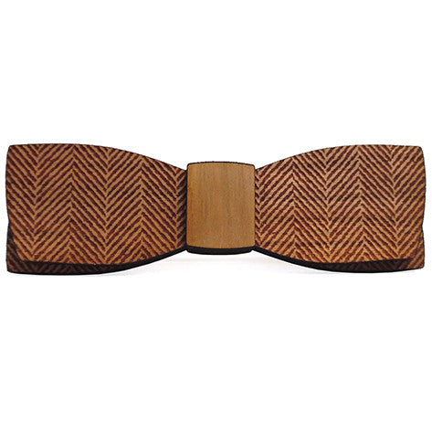 C.C. Herringbone M.Sc., Cherry Wood Bow Tie
