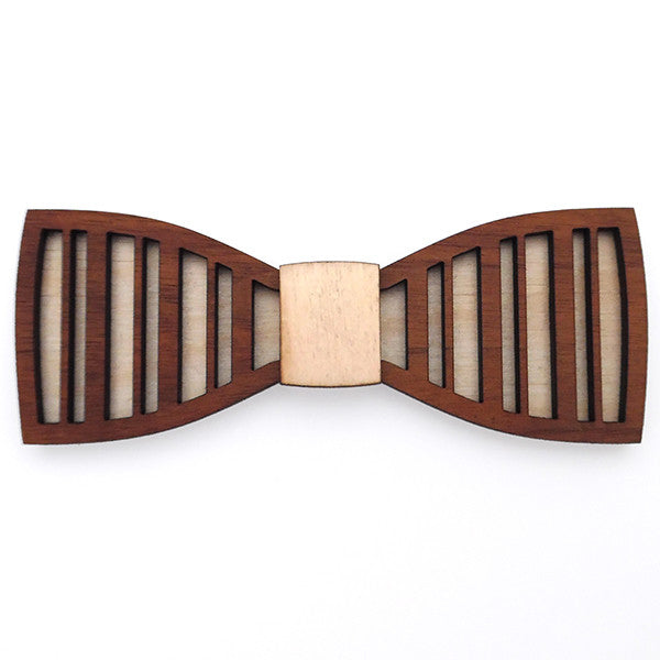 M.B. RegimentalStripes Jr., Bold Wood Bow Tie