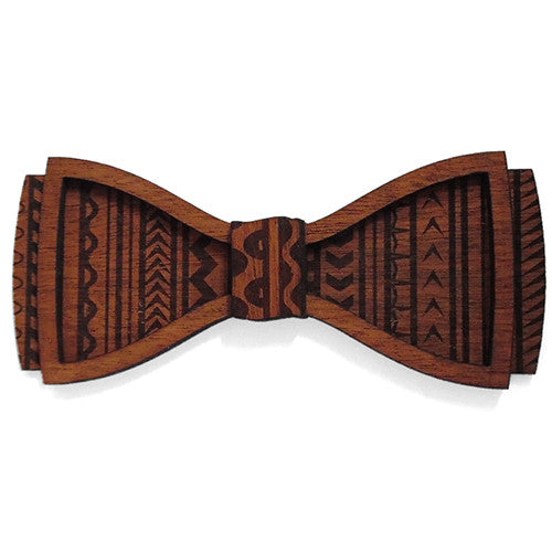 M.M. Aukusitino D.Phil., Island Design Wood Bow Tie