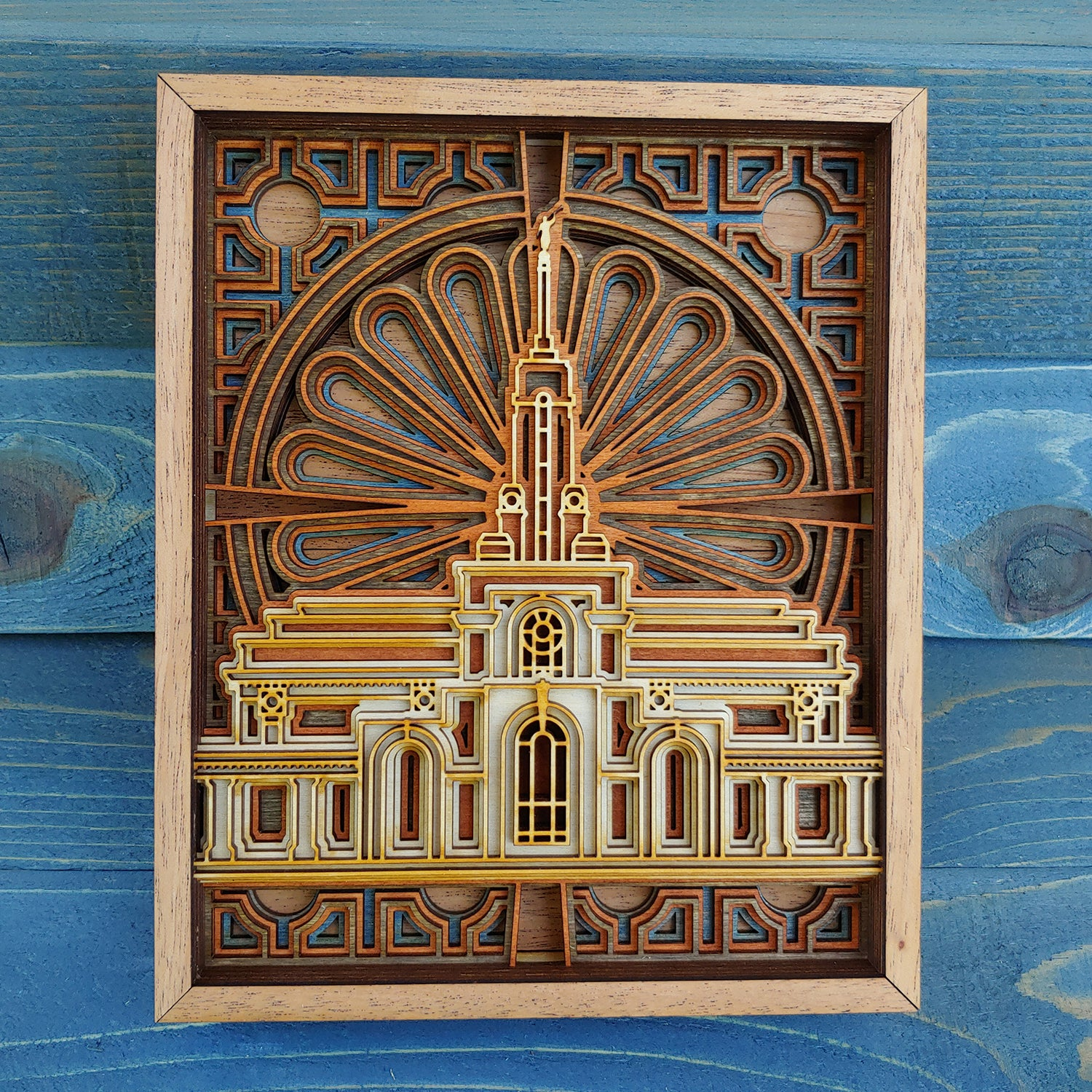 Mount Timpanogos Utah Temple Layered Wood Plaque
