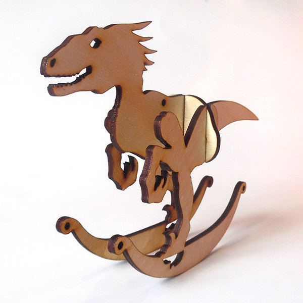 Utah Raptor Puzzle Toy Rocker