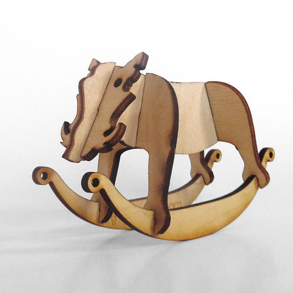 Warthog Wooden Puzzle Toy Rocker
