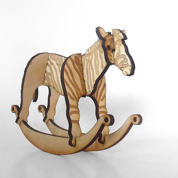Zebra Puzzle Toy Rocker