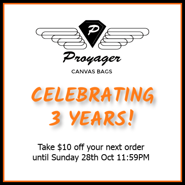 Proyager Canvas Bags 3 Year Anniversary Celebration!