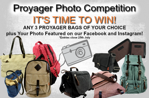 Proyager Photo Competition! Win 3 bags and a full Facebook and Instagram feature!