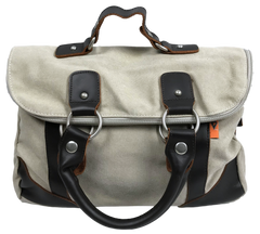 light beige canvas dolce vita foldover handbag