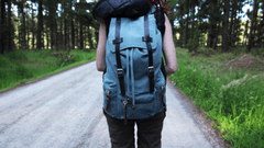 hiking with the Otzi backpack in green