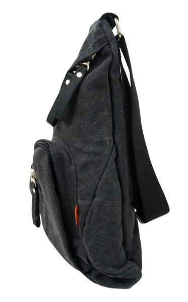 Charcoal Sling Backpack Right Side Angle