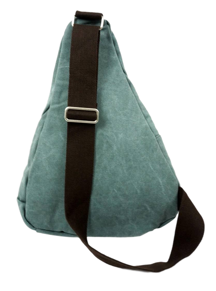 Sage Green Sling Bag Back with Adjustable Strap