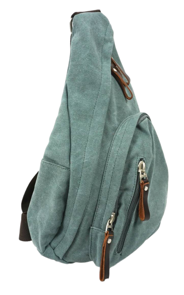 Sage Green Sling Bag left side
