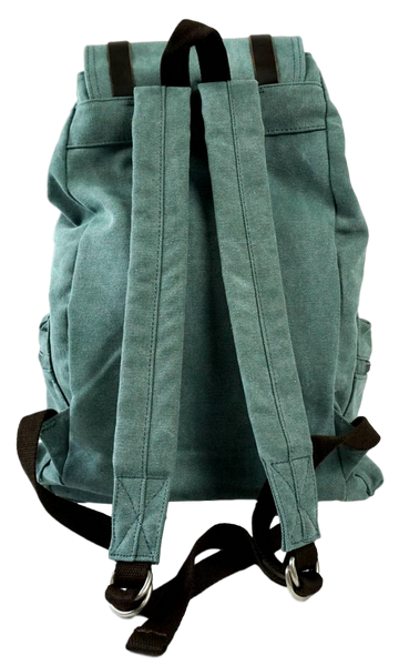 Light green 13 inch laptop backpack back with adjustable straps