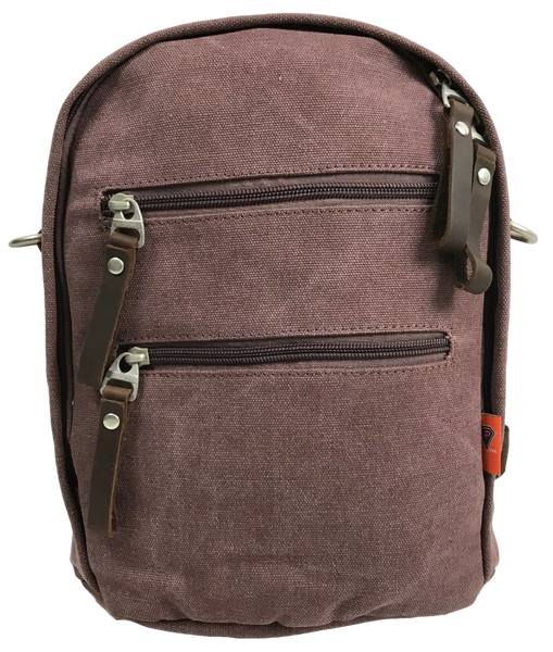 Purple Backpack, Sling, Crossbody Convertible Bag