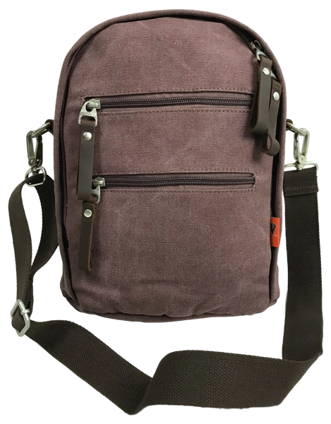 Purple Backpack, Sling, Crossbody Convertible Bag Front
