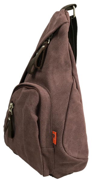 Purple Sling Backpack Right Side Angle