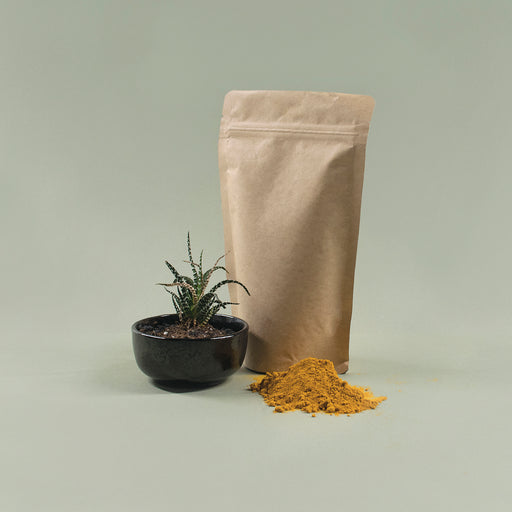Kraft Paper Stand Up Pouch with Resealable Zip & Tear Notch - Titan Packaging