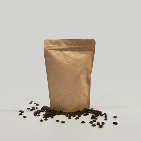 500g Kraft Paper Stand Up Pouches with Air Valve For Coffee