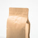 Kraft Paper Coffee Flat Bottom Bag with Resealable Zip & Air Valve - Titan Packaging