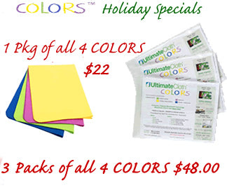 COLORS Holiday Special! The Ultimate Cleaning Cloth in 4 Bright Colors: Standard Size