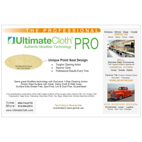 UltimateCloth Professional Combo Pack: 4 Antimicrobial Cleaning Cloths and 4 Textured UltimateCloth PROs