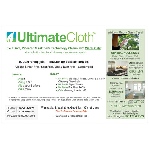 Classic White Standard Size Holiday Special! UltimateCloth's Original Cleaning Cloth